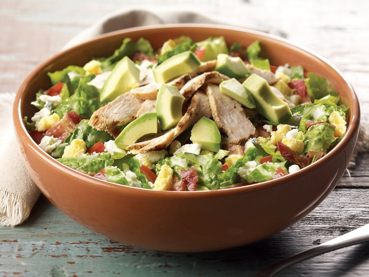 Summer means time for avocados! Panera Bread's new Chopped Chicken Cobb with Avocado Salad has all-natural, antibiotic-free chicken, romaine lettuce, tomatoes, Applewood-smoked bacon, Gorgonzola, hard-boiled eggs, all chopped and tossed with herb vinaigrette, topped with fresh avocado.