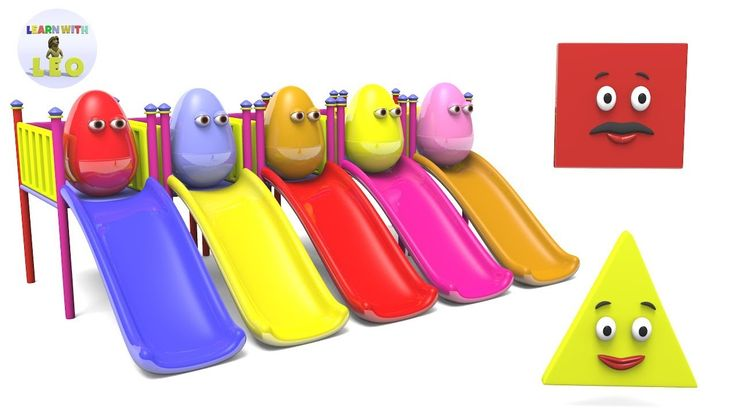 Learn Shapes Colors and Numbers with Surprise Eggs Sliding Playground Toy | Video for Toddlers - YouTube