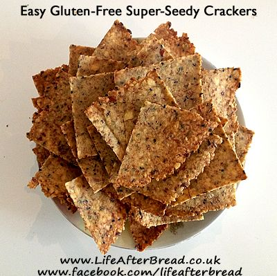 Easy Gluten-Free Super-Seedy Crackers  Great substitute for packaged tortilla chips and crackers