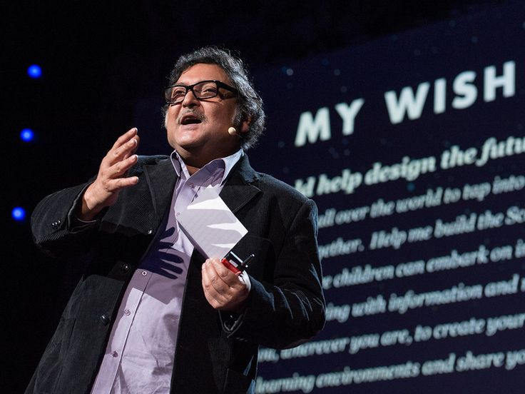 Build a School in the Cloud (TED) - Educational researcher Sugata Mitra took the