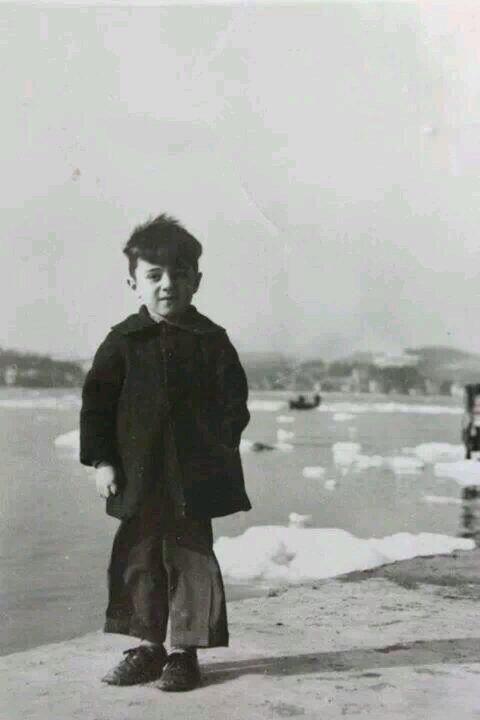 Buz tutmuş İstanbul'da bir çocukluk hatırası (1954) #istanbul #istanlook