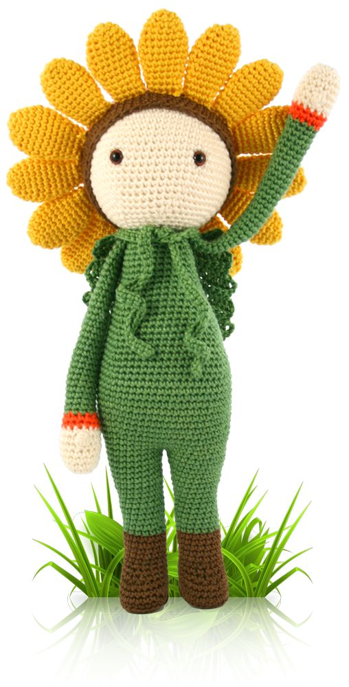 Sunflower Sam - crochet amigurumi pattern by Zabbez / Bas den Braver $