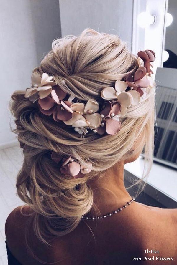 18 lange Hochzeitsfrisuren für die Braut von Elstiles – Hair ideas