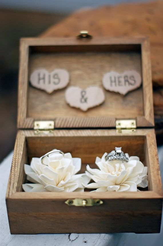 Ring Bearer Box Shabby Chic Rustic Wedding by CountryBarnBabe