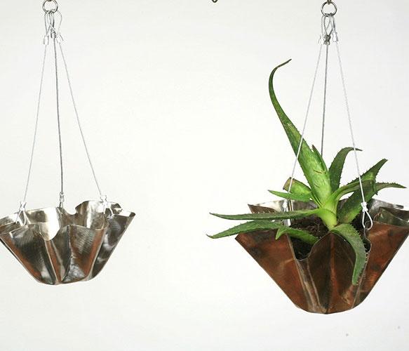 Hanging Flower Pots: Hanging Flower Pots, Steel Small, Hanging Flowers, Flower Pots Repin, Garden, Small Hanging, Stainless Steel