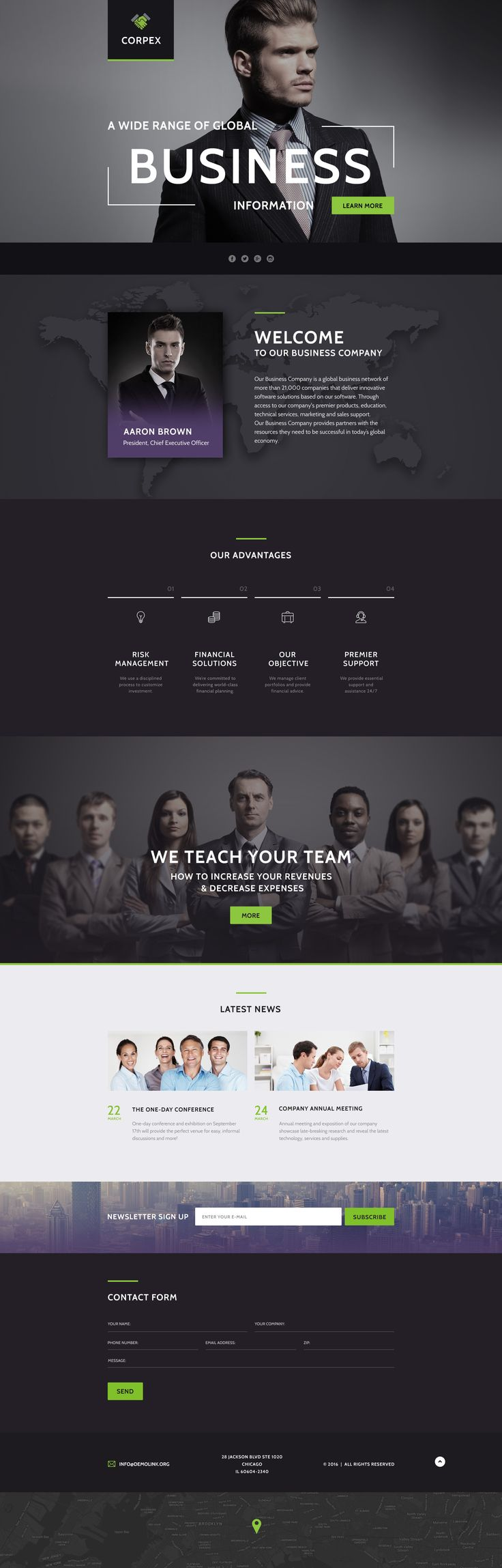 Business Responsive Landing Page Template #58438 http://www.templatemonster.com/landing-page-template/business-responsive-landing-page-template-58438.html