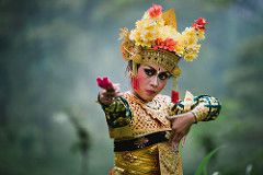 Legong Pose 2 (eggysayoga) Tags: portrait bali flower color colour film girl pose indonesia fan dance costume nikon kodak bokeh expression traditional culture makeup sigma dancer tele 28 portra f28 legong budaya balinese 70200mm emulation ekspresi d810 kipas tuding nuding vsco #voyage_bali #danse_balinaise #art_de_bali