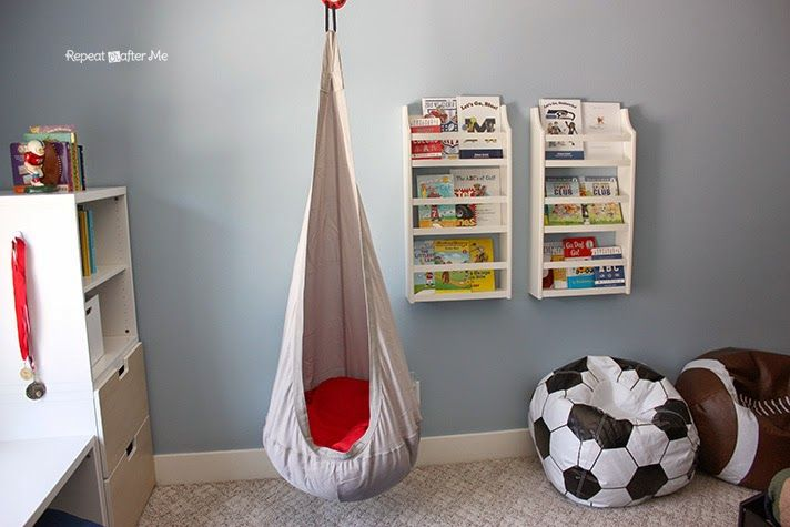 Repeat Crafter Me: Boring to Bold Boys Sports Themed Bedroom