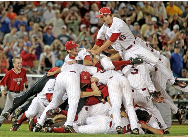 Go Gamecocks!: Threepeat, Gamecocks Baseb, National Champs, Series Champs, Carolina Gamecocks, Dogs Pile, Baseball Seasons, Colleges World Series, Baseb Seasons