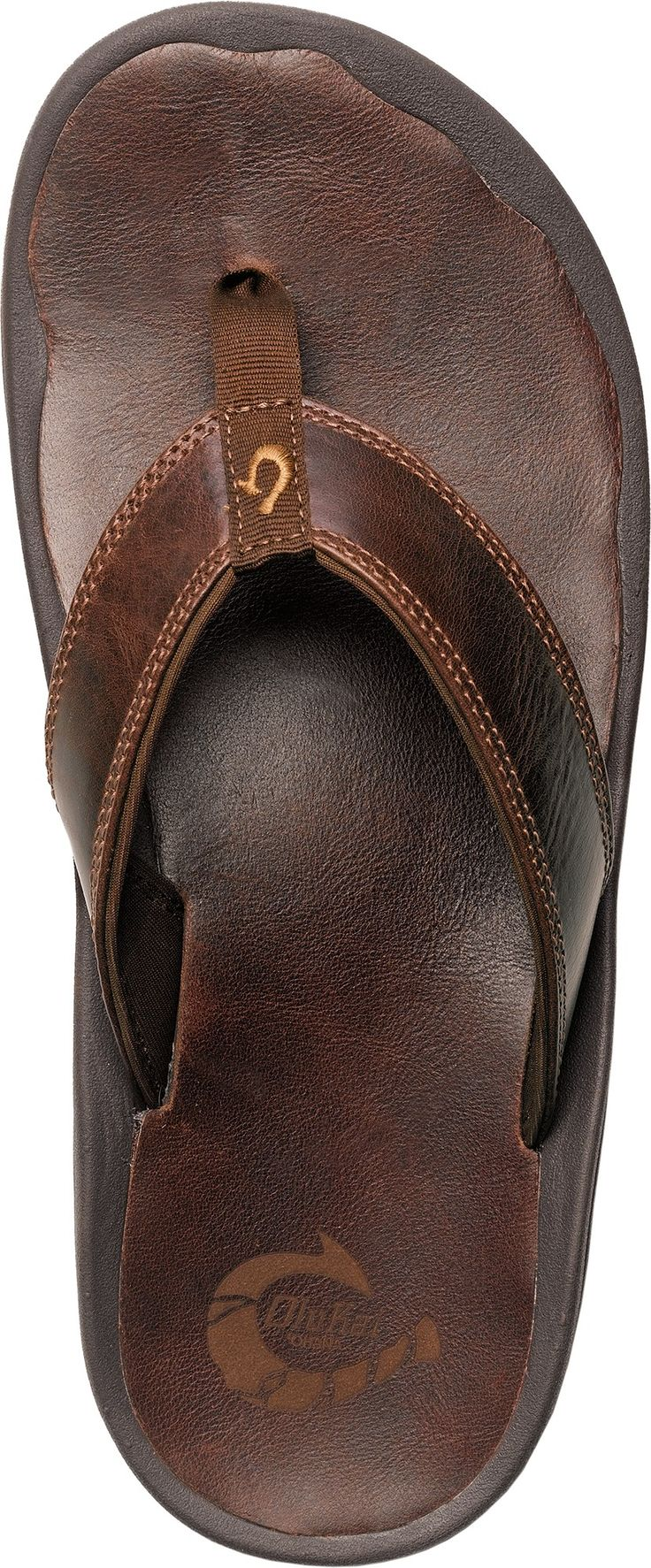 OluKai 'Ohana Leather Flip-Flops - Men's - Free Shipping at REI.com