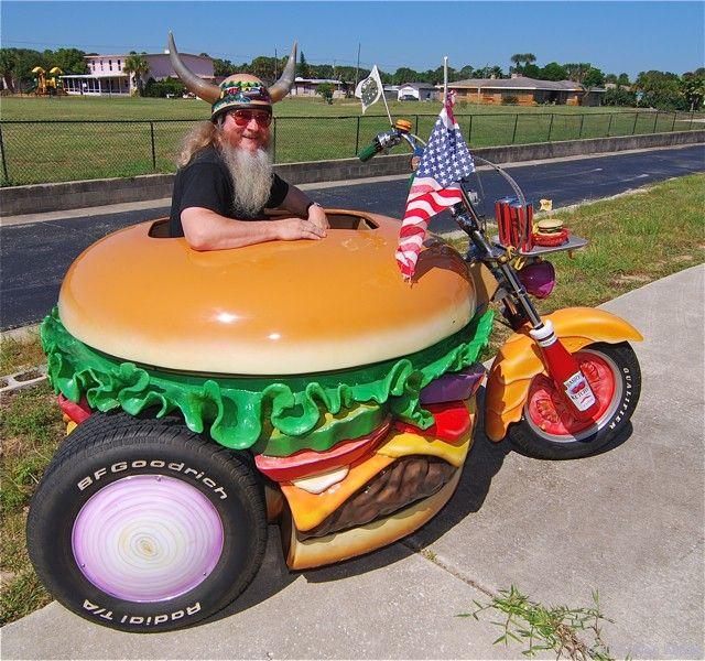 Cheesy Rider - Hamburger Harry and his Hamburger Harley