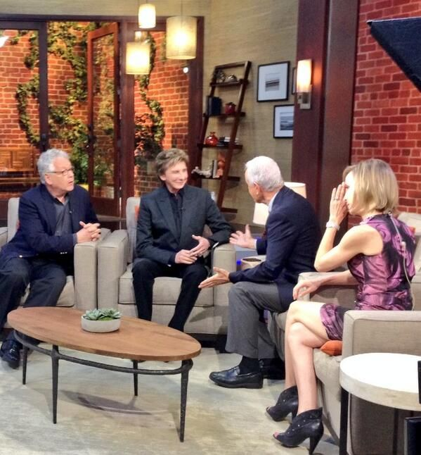 Bruce and Barry on the Set of Good Day LA - talking about Harmony at the Ahmanson