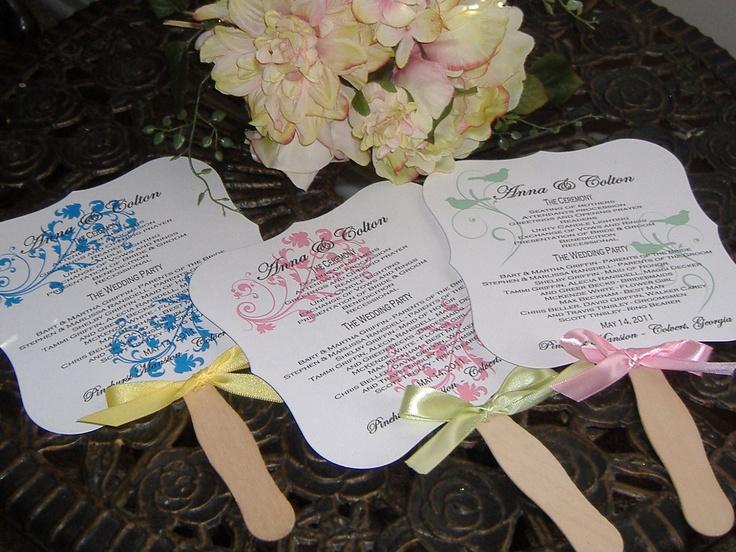 etsy wedding | Wedding Fans with Program set of 50 by wreathartist on Etsy