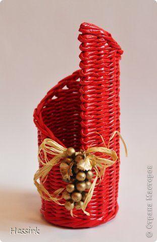 Поделка изделие Плетение Январь Трубочки бумажные фото 5