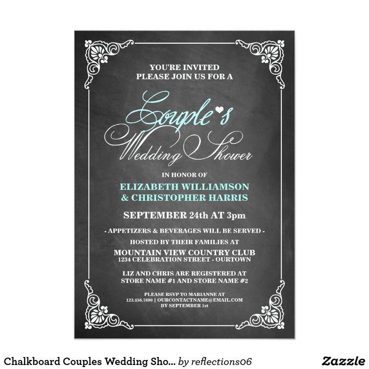 Chalkboard Couples Wedding Shower Invitations