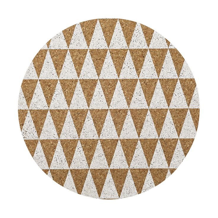 Bloomingville Placemat Cork with White Triangles Buy