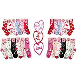Valentine's Day Crew Socks For Women (Bundle of 3 Pairs in Assorted Styles)