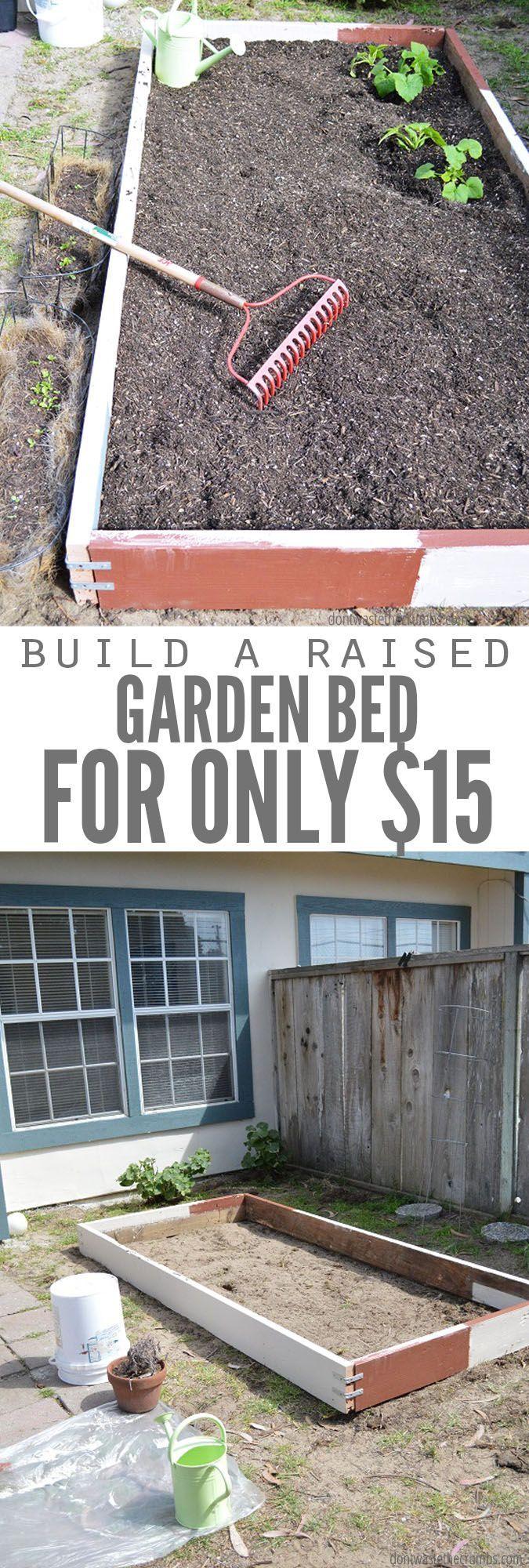 So bauen Sie ein Garten-Hochbeet für unter 15 US-Dollar