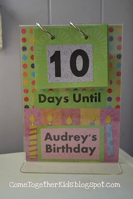 Birthday Countdown flip chart