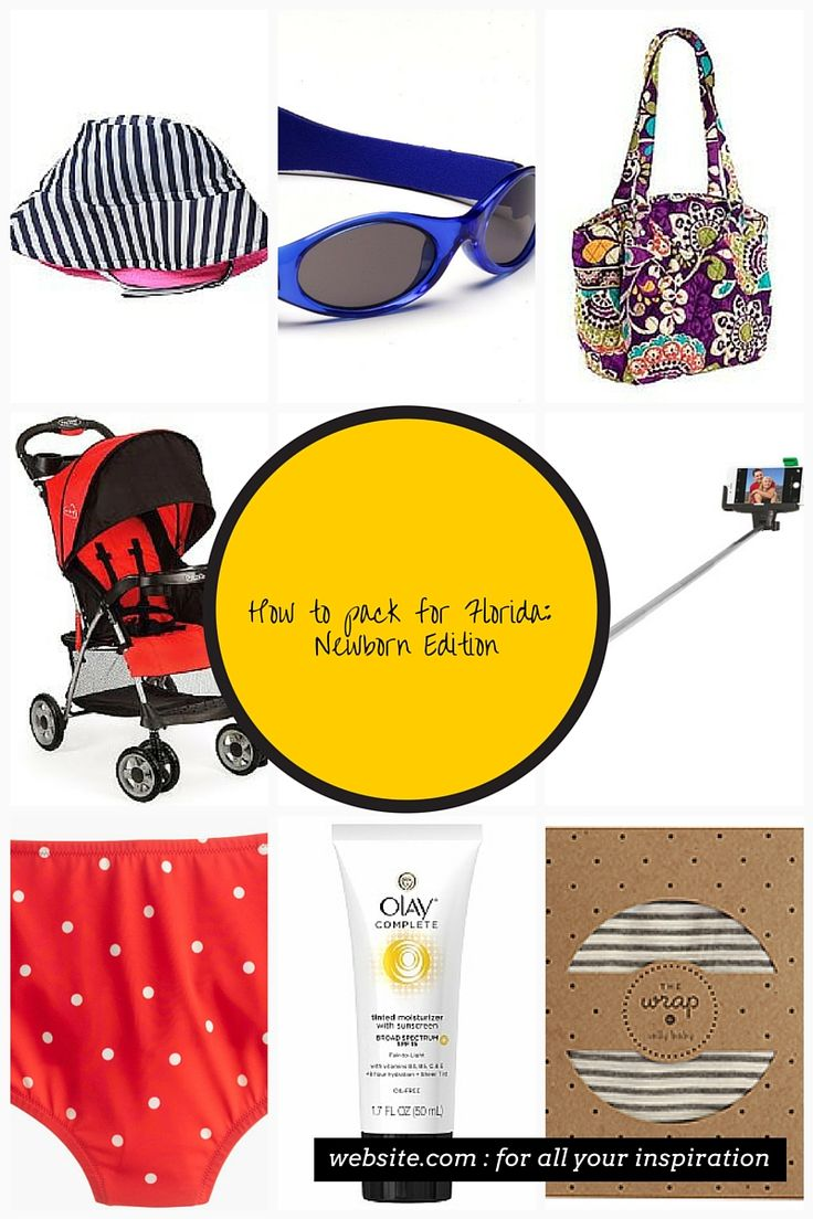 How to Pack for Florida Newborn Edition Baby sun hat