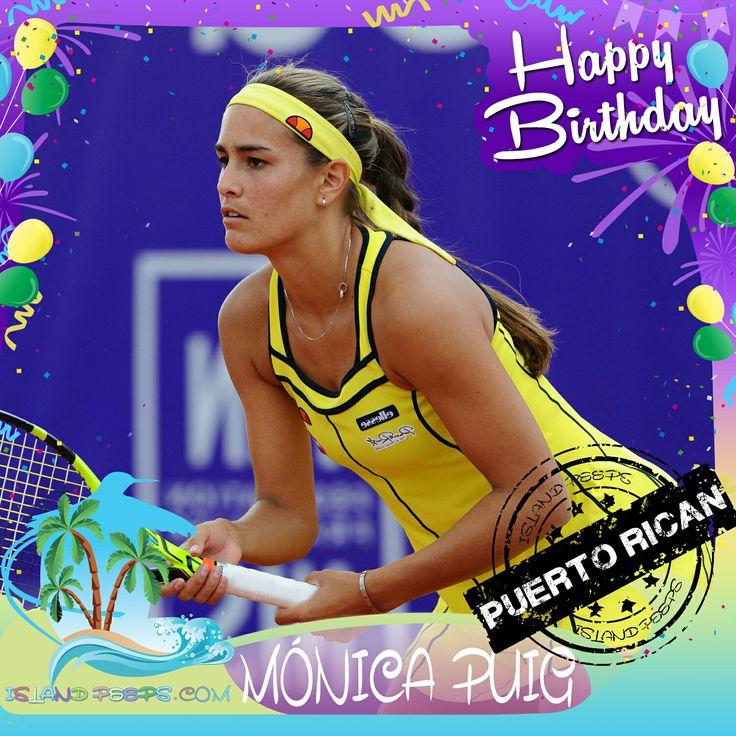 Happy Birthday Mónica Puig!!! Puerto Rican born Pro Tennis Player of Cuban descent!!! Today we celebrate you!!! @MonicaAce93 #MonicaPuig #islandpeeps #islandpeepsbirthdays #Tennis #SummerOlympics #GoldMedalist #PuertoRican