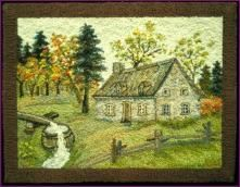 Georges Tremblay Vintage Hooked Rug | FineArtandAntiques