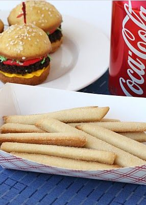 Hamburger Cupcakes with Cookie Fries - Glorious Treats.  this should lead you to the recipe