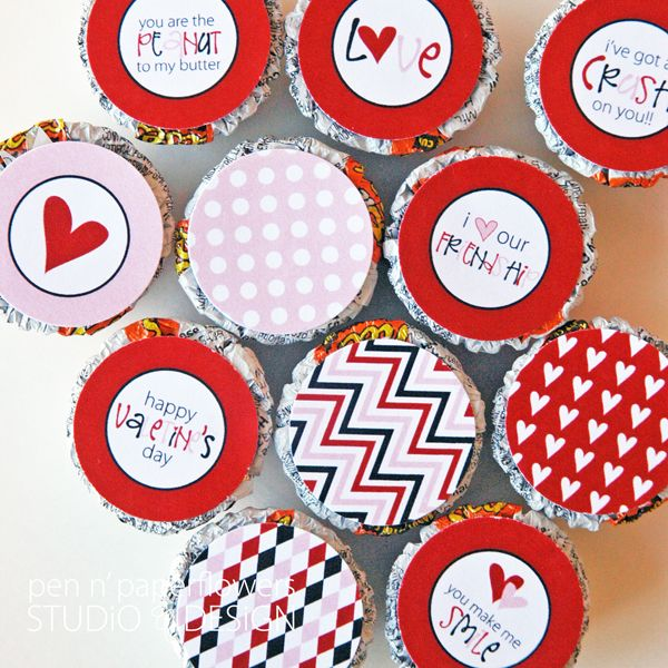 FREE Valentine's Day Printables for Mini Reese Cups #valentinesday
