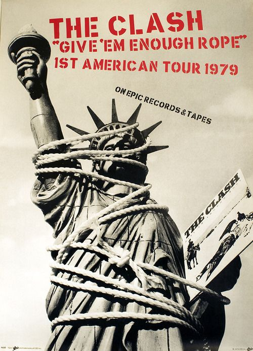 The Clash, promo poster for the Give 'Em Enough Rope US Tour, 1979