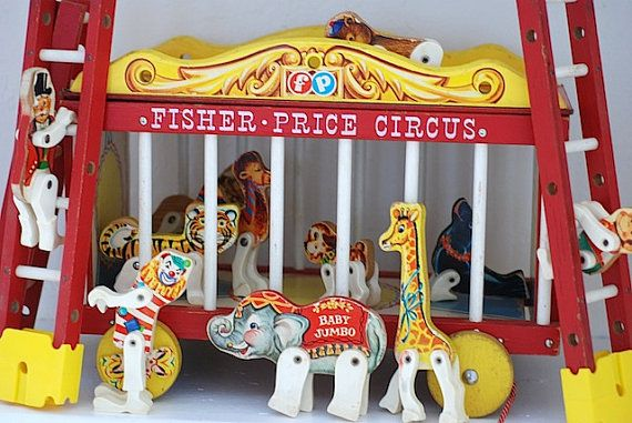 Vintage FISHER PRICE CIRCUS - My brother and I played with this when we were younger, and now our kids have, too.
