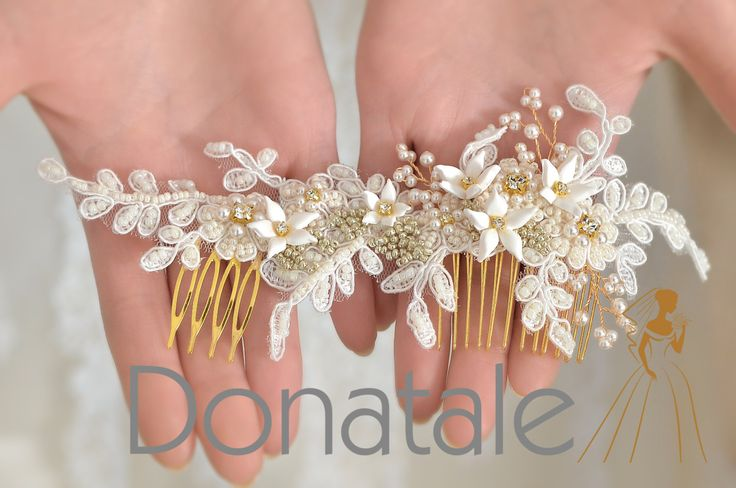 AGNES Wedding Hair Flower Wedding Hair от DonataleFlowers4You