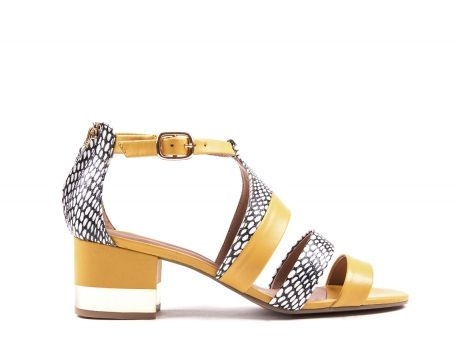Yellow leather sandals from Zilian - SS14