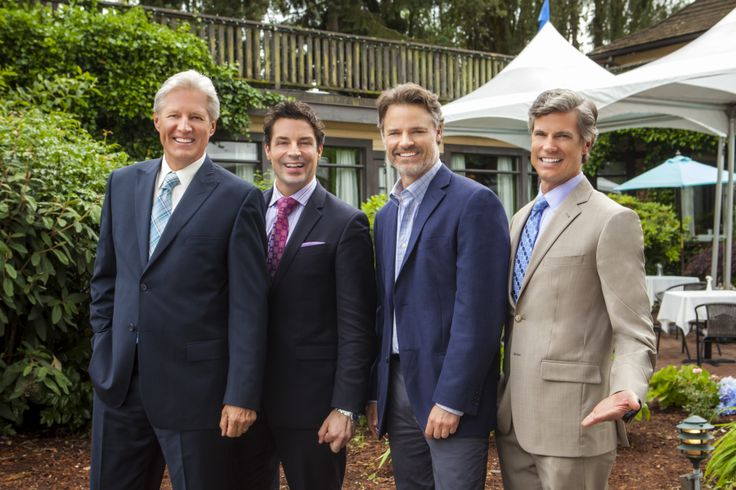 Bruce Boxleitner, Brennan Elliot, Dylan Neal, and Cameron Bancroft on #CedarCoveTV