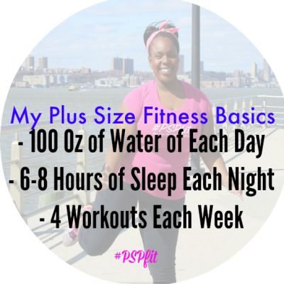 My Plus Size Fitness Basics This seems simple enough... But do you realize 100oz of water is like one and a half Apple Juice containers. O_O !!!