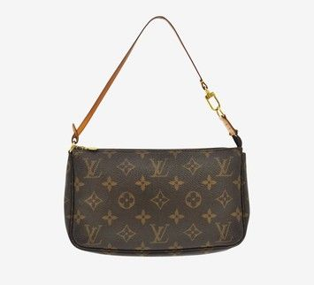 Louis Vuitton Pochette Pouch Monogram Small Handbag Shoulder Bag. Get one of the hottest styles of the season! The Louis Vuitton Pochette Pouch Monogram Small Handbag Shoulder Bag is a top 10 member favorite on Tradesy. Save on yours before they're sold out!