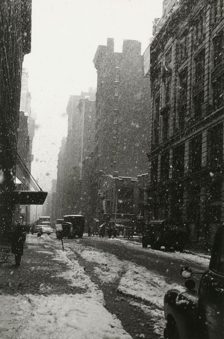 David Vestal Snow, West 22nd Street, 1958 From The New