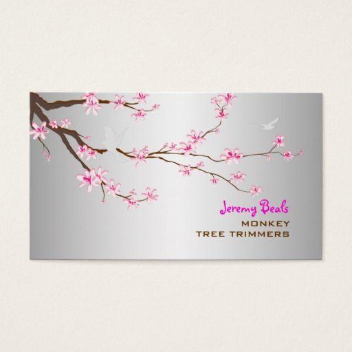 PixDezines sakura/pink cherry tree trimmers ♥♥♥ Business Card