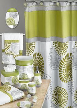lime greengray bathroom accessories also available in plumgray kohls