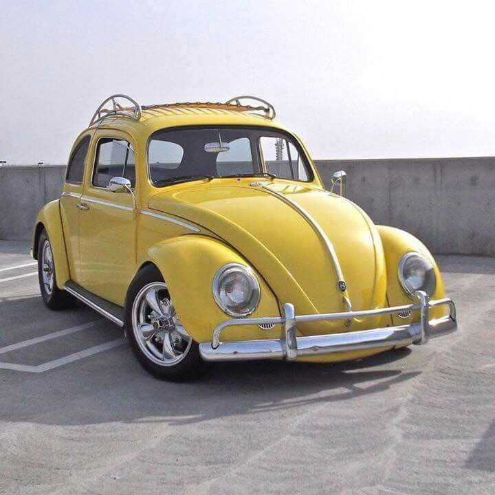 Everyone loves a yellow bug! #Classic #Volkswagen #Style #Design