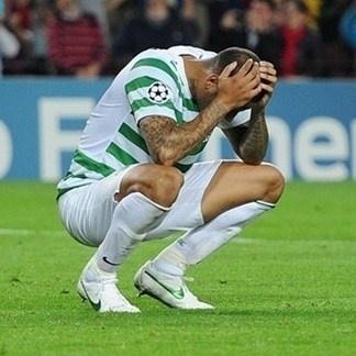 Jugador del Celtic. | FC Barcelona 2-1 Celtic. 23.10.12.