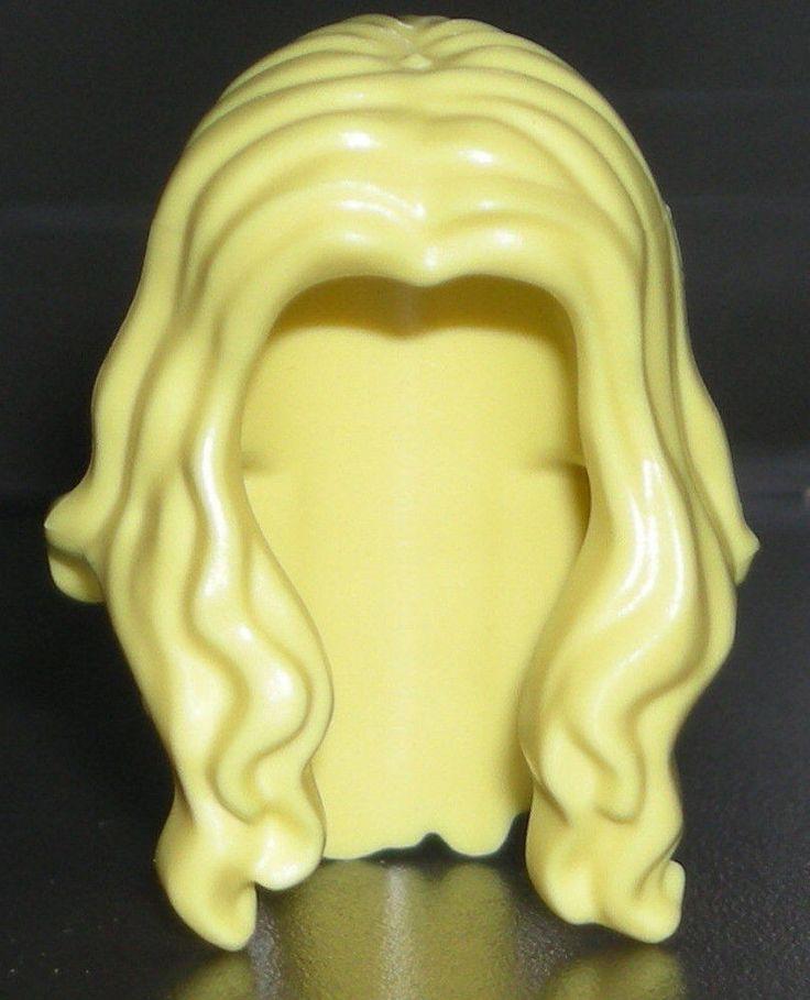 Lego Blonde Minifigure Hair Bright Light Yellow Lady Girl