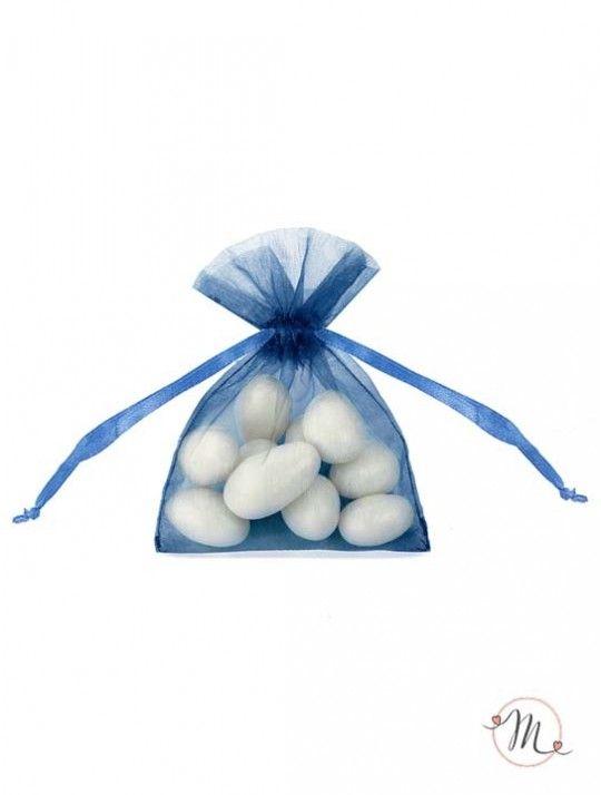 Sacchetto organza Blu.  In #promozione #confettata #confetti #matrimonio #weddingday #ricevimento #portaconfetti #sacchetti #wedding #sconti