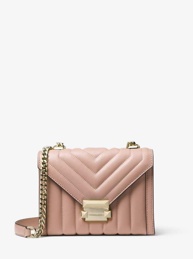 b9e68f2363b0 MICHAEL Michael Kors Whitney Small Quilted Leather Convertible Shoulder Bag