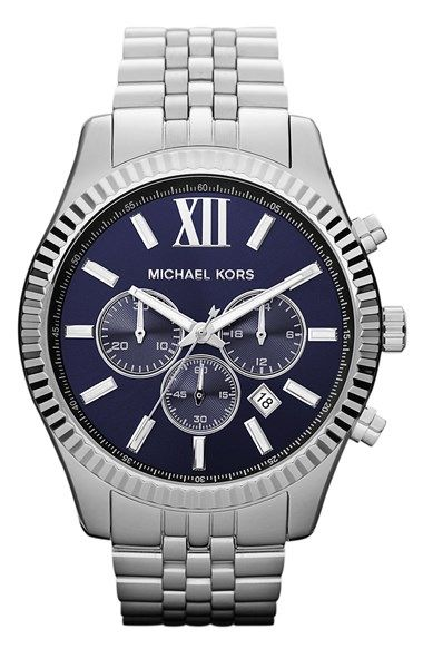 Michael Kors #blue faced watch http://rstyle.me/n/mc5fvr9te