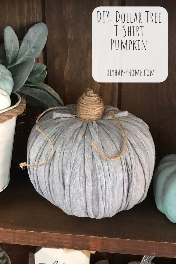 DIY: Dollar Tree T-Shirt Pumpkin