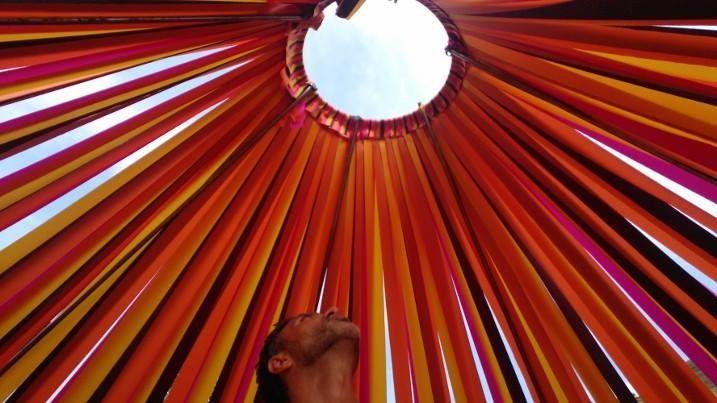 Gandolfo Gabriele David - Axis Mundi - installazione per Agrifestival Hippana 2014 - Interno #dimoraoz #art #installation #mandala #soundofthesun #palermo #gandolfogabrieledavid #axismundi #landart
