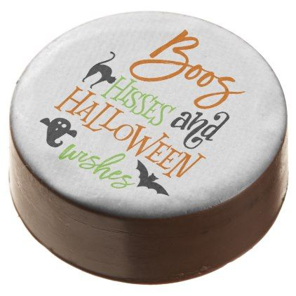 #Boos Hisses and Halloween Wishes Chocolate Covered Oreo - #Halloween #happyhalloween #festival #party #holiday