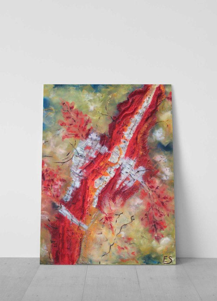 Berk | Galerie Frisselstein | 3D schilderij  Linnen met verschillende materialen. In het werk is gebruik gemaakt van Berkenbast en Jute wat zorgt voor een unieke structuur in het beeld. #jute #linnen #structure #structuurverf #schilderij #woonkamer #inspiratie #kunstwerk #schilderij