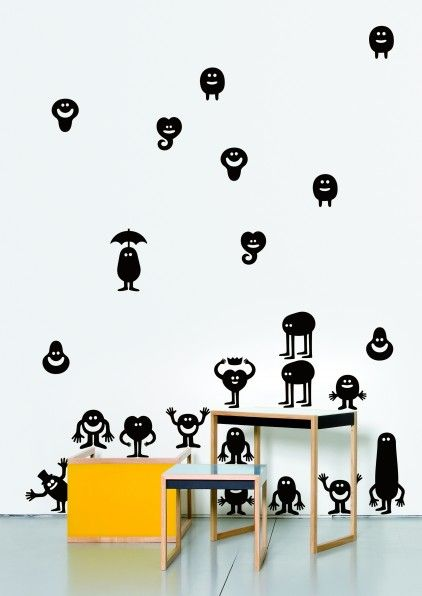 Characters Wall Sticker By Geneviève Gauckler By DOMESTIC