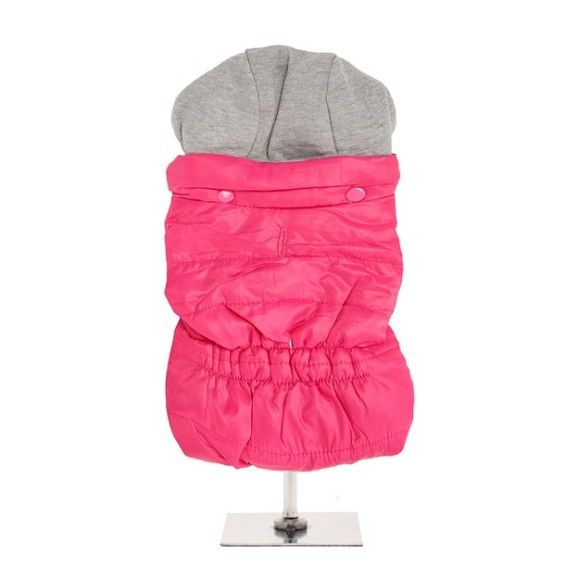 Dog Bodywarmer with Hood in Hot Pink